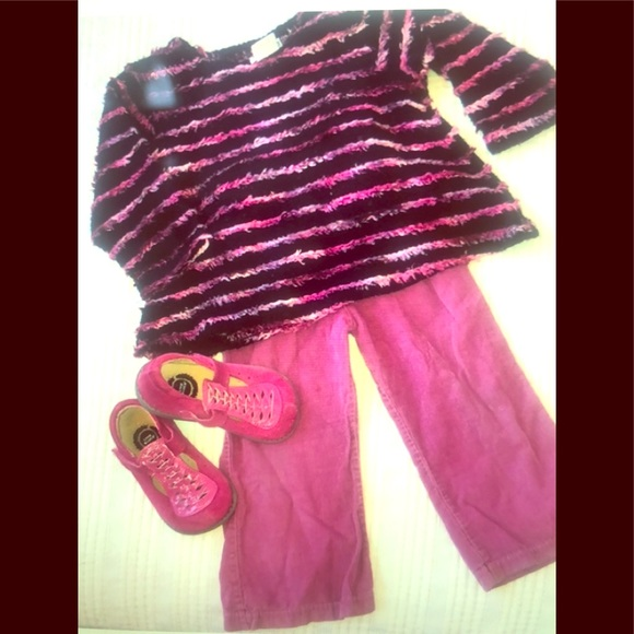 Cach cach Other - 24m Cachcach top & 2T Painting Red Rhinos pants